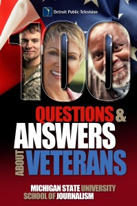 "Cover of the Bias Busters guide, ""100 Questions and Answers About Veterans: A Guide for Civilians"""