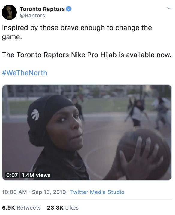 Women in hijab play basketball