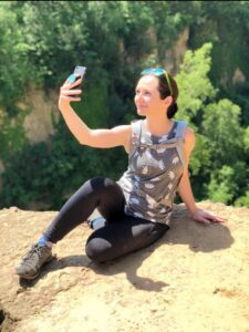 Millennial takes selfie