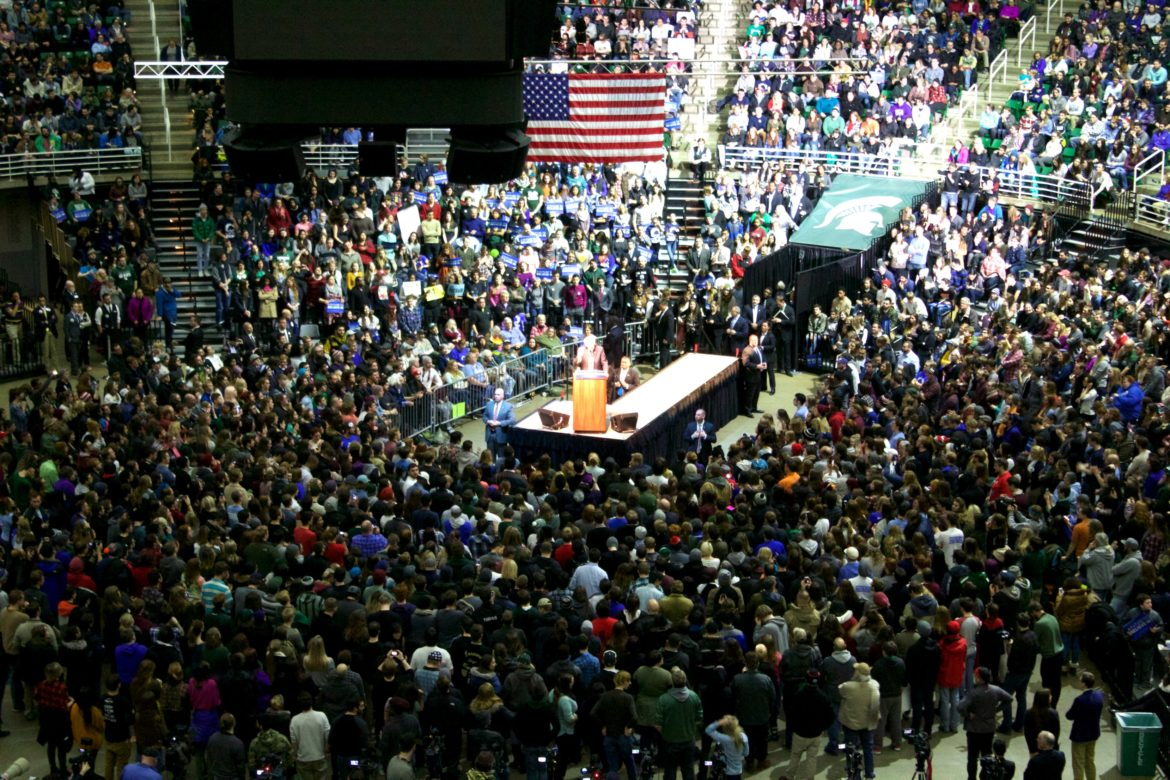 Sen. Sanders packed the Breslin Student Events Center with more than 10,000 attendees on March 2.
