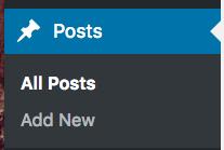 Posts menu