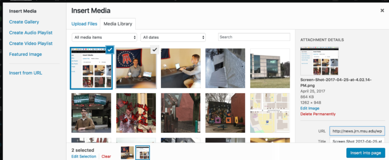 Small photo sets may show up as galleries, larger ones as slide shows.