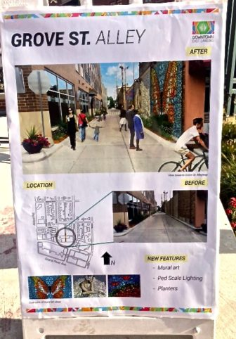 City Plan for the Grove street alley.