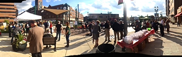 Oct. 7 Rally For the Alleys Kickoff Crowdfunding Event in Ann Street Plaza.
