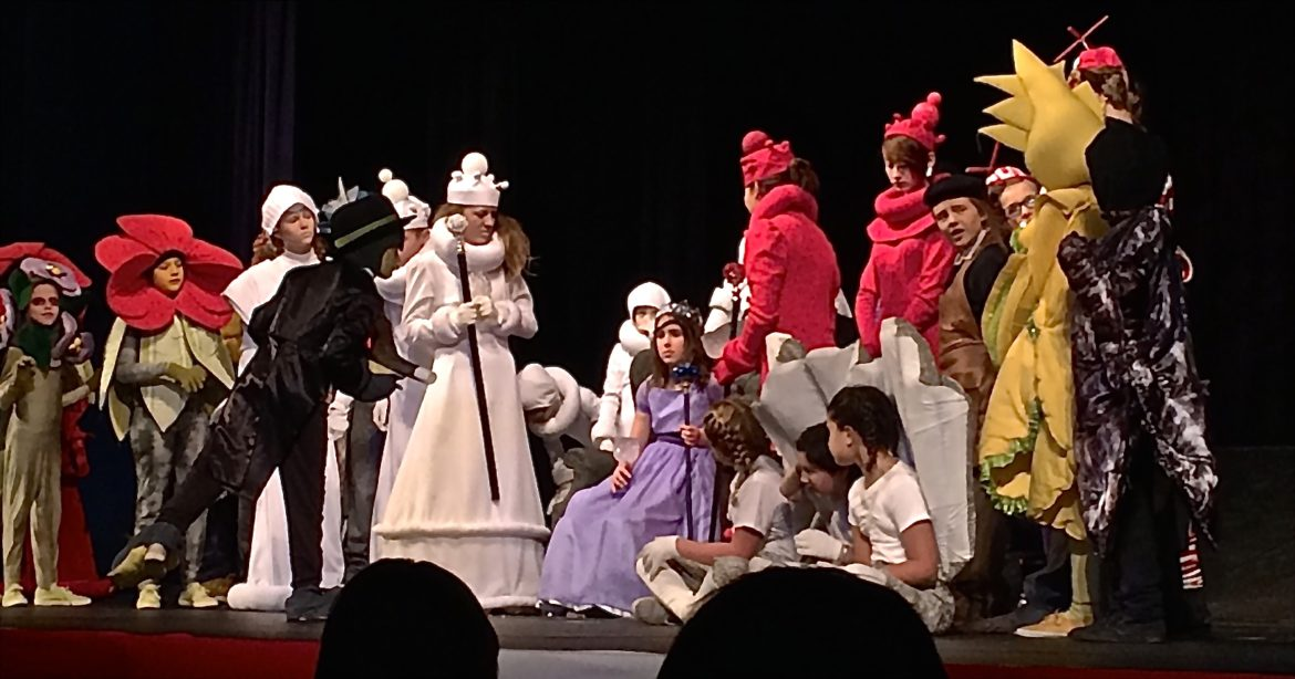 """All-of-Us Express Children's Theatre perform """"Alice in Wonderland"""" at the Hannah Community Center in 2015."""