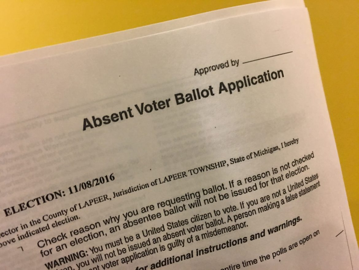 The absent voter ballot Ken Fegan talked about using to vote this year