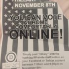 Michigan State University officials reported finding this flier in buildings across campus. Officials warned building supervisors to remove the flier fearing it would confuse voters.