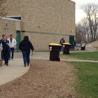 Meridian Township residents head to Haslett Middle School to cast their vote on Election day. (Photo Credit: Michael Epps)