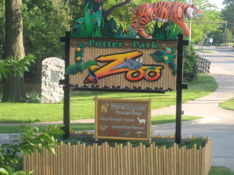Potter Park Zoo Entrance Sign
