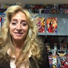 Monica Jahner at her comic book shop. Jahner works with A.R.R.O., re-entry program helping ex-offenders transition into the workplace.