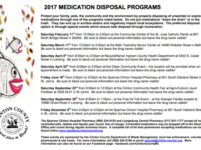 Clinton County medication collection events