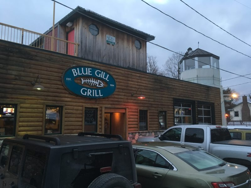 Blue Gill Grill in Haslett drew about 40 customers for the big game.