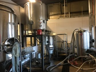 """This 7 barrel brewing system is the front system that can be viewed by any customer at any time of the day."""