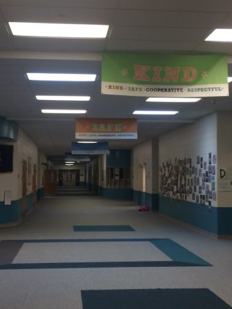 The hallways of one of the two elementary schools in Willamston, that soon will have a new superintendent.