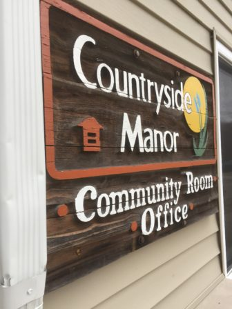 Countryside Manor Community Office Room, where meetings and information about the apartment complex are held.