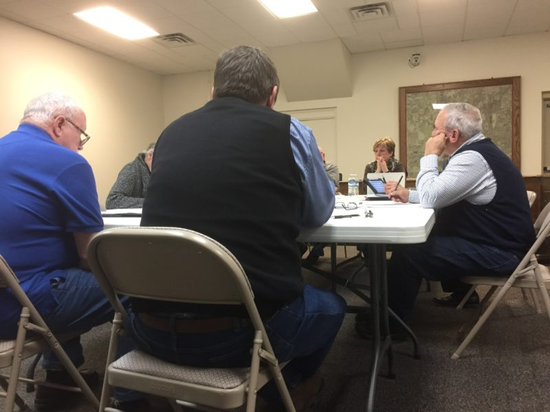 Bath Township Board of Trustees discussing the draft of the non-discrimination ordinance on Feb. 6.