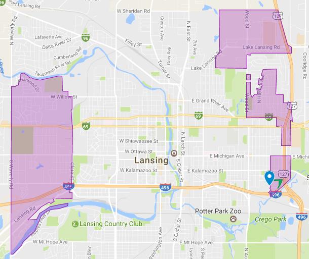 Lansing Township. Screenshot courtesy of Google Maps.