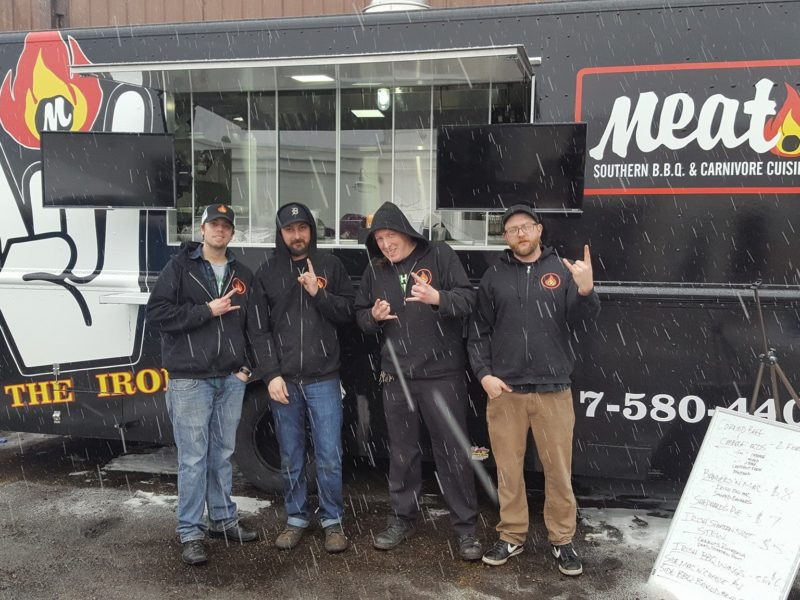 Meat Southern BBQ & Carnivore Cuisine food truck located at Ellison Brewery. Photo credits to Meat Facebook page.
