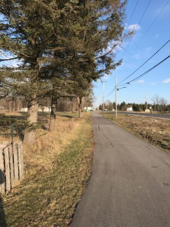 The Ram Trail that runs along Holt Rd. in Holt, Mich. Photo by Claire Barkholz.