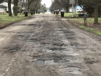 Park Ln. in Delhi Township riddled with potholes.