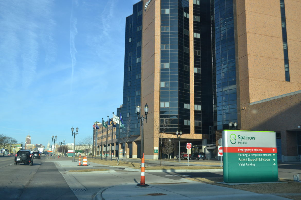 Sparrow Hospital located at 1215 E Michigan Ave, Lansing, Mich. on March 21. Photo by Taylor Skelton