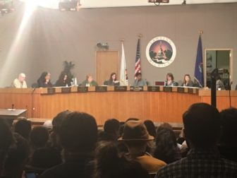 The Lansing City Council meets in front of hundreds of citizens on Monday, Feb. 27, 2017. The council has yet to make a decision as to whether Lansing will or will not be a sanctuary city.
