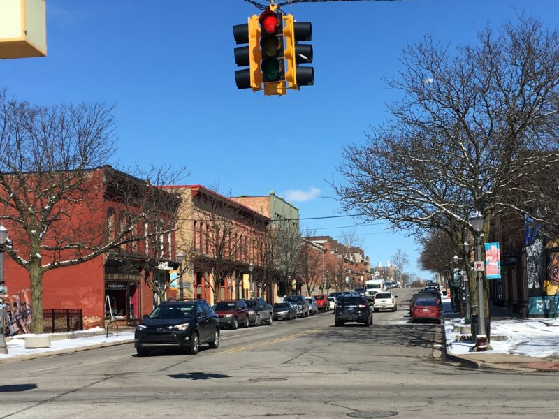 Parking is available along the streets in Old Town, including Turner Street (pictured). Photo by Kaley Fech.