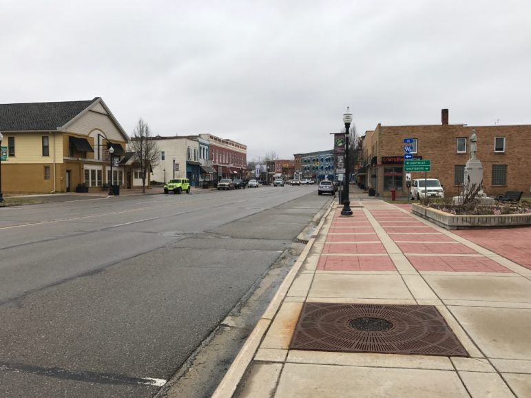 The City of Williamston has the small town characteristics along main street.