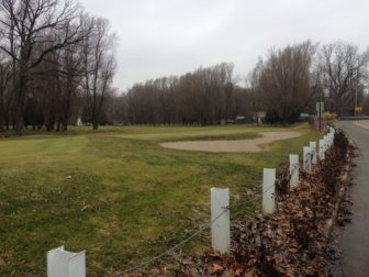 Renovations have been done to hole three (photographed above), in and around the traps and greens.