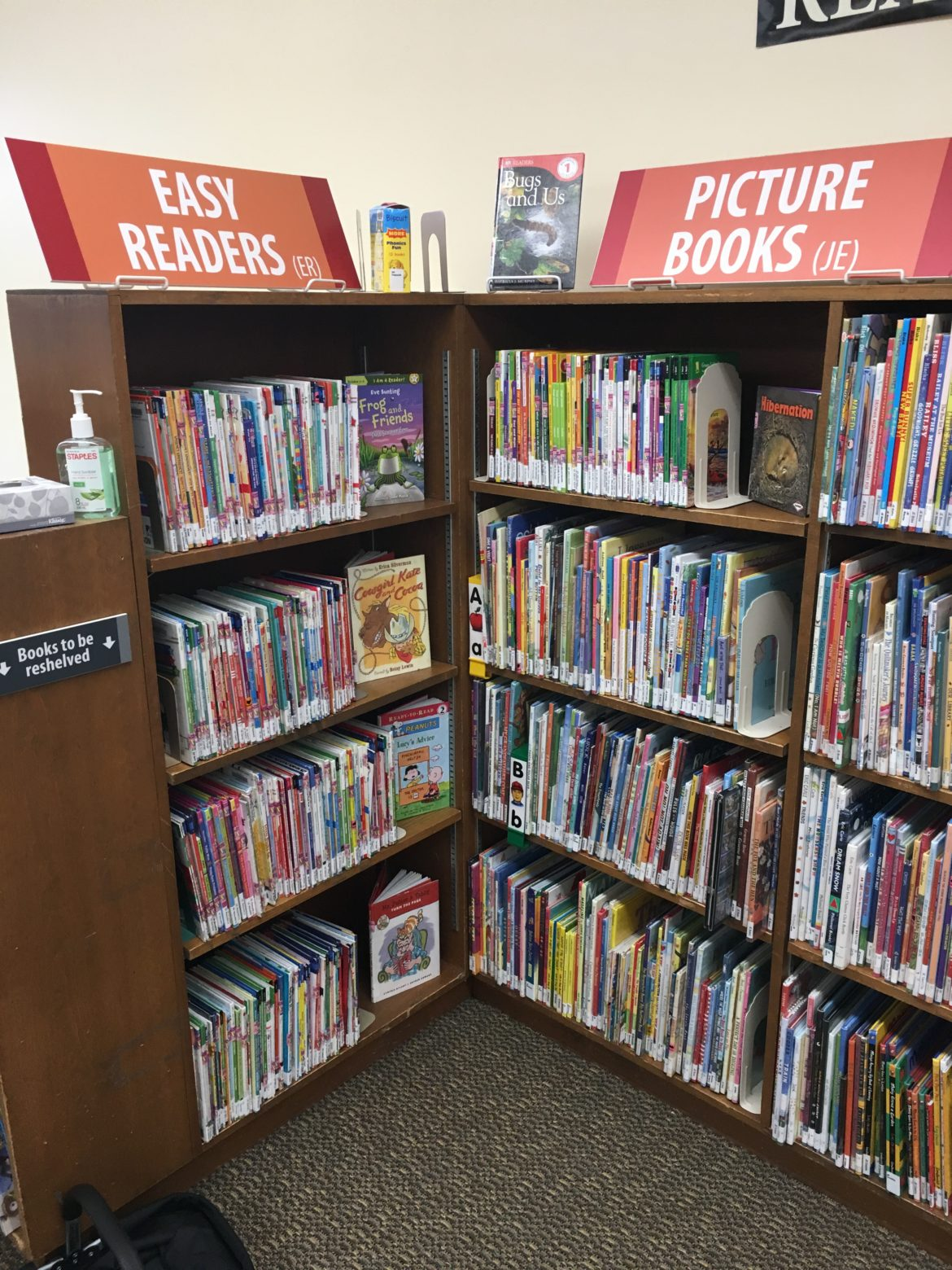 Children can choose from a wide variety of books in Masons Kids' Corner.