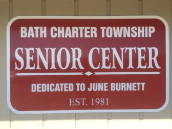 Entrance to the Bath Township Senior Center located at 14480 Webster Road.