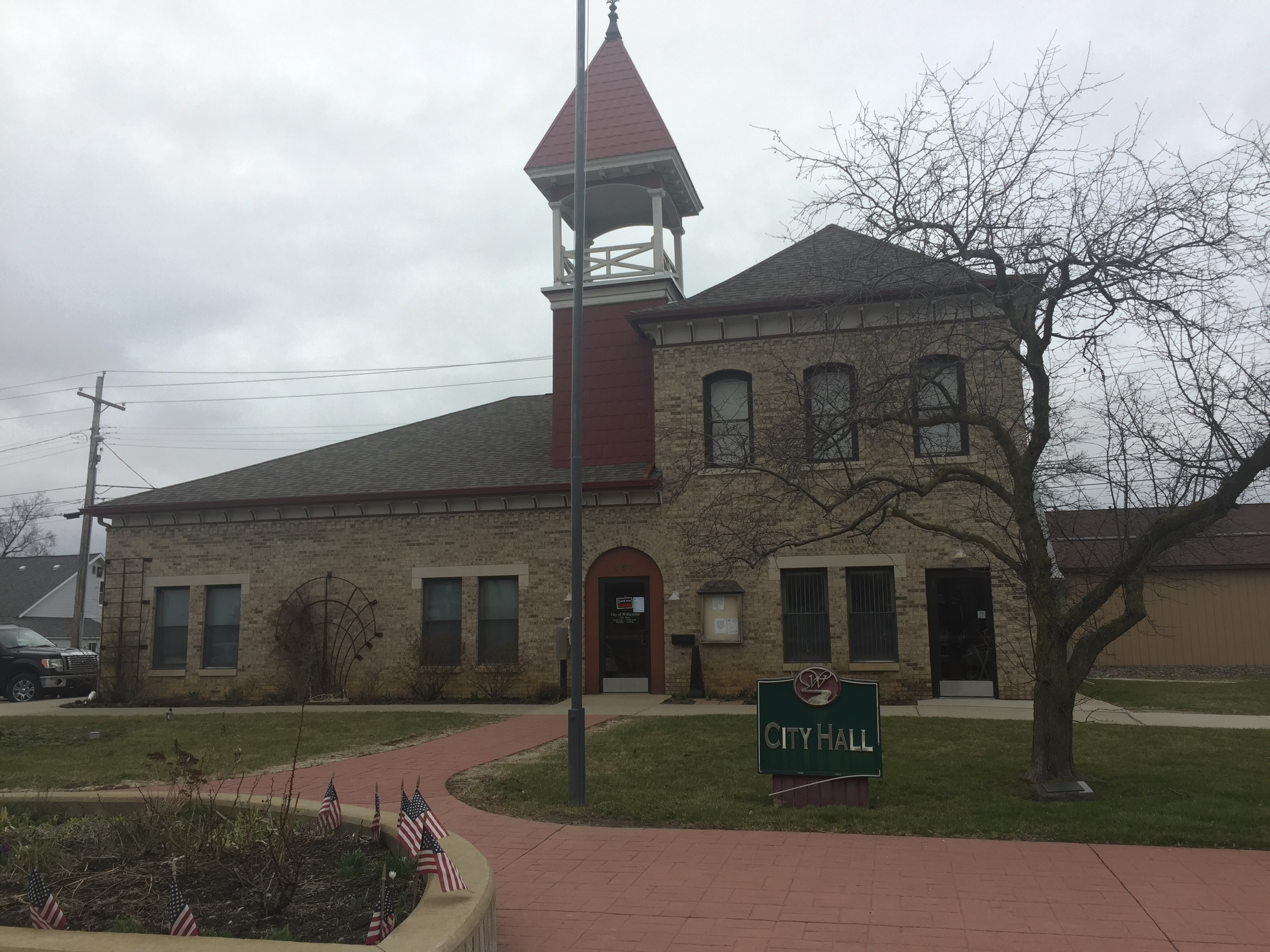 The front of Williamston City Hall, where the city council meetings are held on the second and fourth Monday of the month at 7:00 p.m.