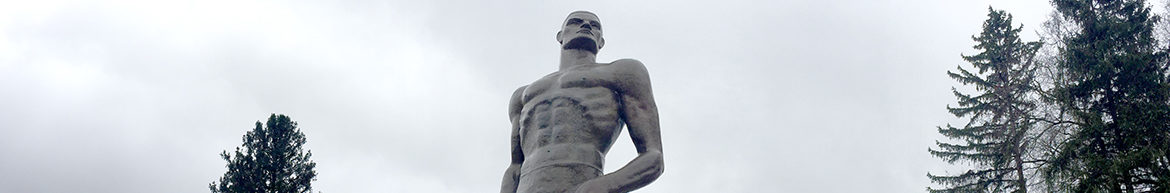 The Spartan statue on the campus of Michigan State University.