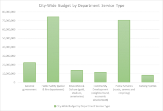 The City wide budget for the City of Lansing based on the department and what's in the department.