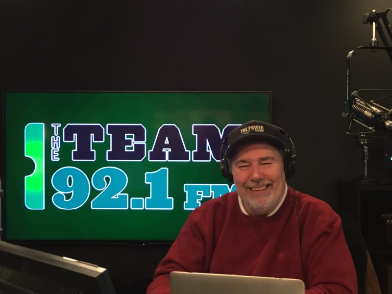 Jack Ebling poses in the studio at The Team 92.1 FM
