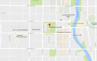 Map of the Michigan State Capitol