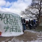 The Rock is the epicenter of protest at Michigan State