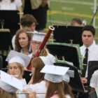 Alexis West playing in the band at high school graduation. Photo by Alexis West.