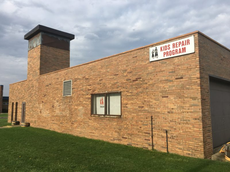 The outside of Lansing's Kids Repair Program isn't much to look at, but that doesn't matter.  It's what's inside the building that counts.