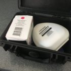 One of the pre-assembled Narcan kits provided to the Lansing Township Police Department. Narcan is a drug that counteracts the effects of opioid overdose and can be administered by first responders to save lives. Photo by Casey Harrison.