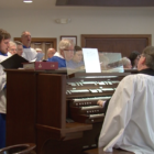 The choir at St. Paul's Episcopal Church in Lansing sings during their Sunday morning service on Sunday, March 26, 2017