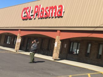 CSL Plasma, located at Jolly Cedar Square in Lansing, has become a popular spot for college students to pick up extra cash. Photo by Austin Short