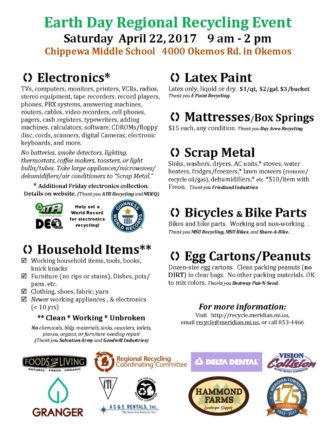 Earth Day Information packet provided by Leroy Harvey.