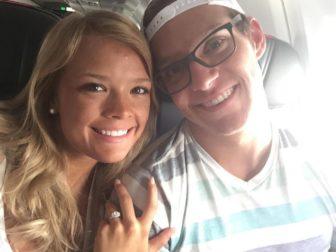 MSU junior Kayleigh Scherzer and her fiancé Ben Vanderstarre