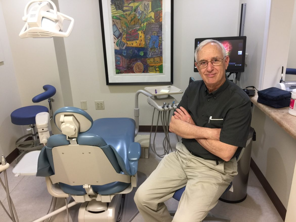 Dr. Peter Chiaravalli volunteers his time at the Volunteers of America Michigan Dental Clinic.
