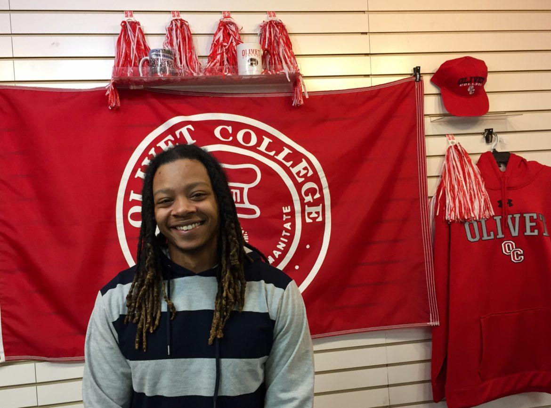 Black Lives Matter activist Jalen Ewing of Olivet College in Michigan.