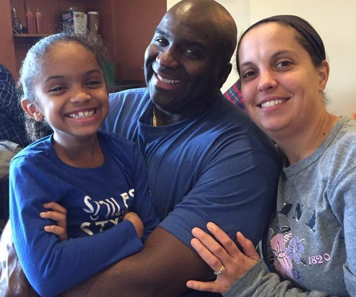 Omar and Mandy Connor pictured with their daughter.