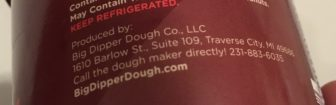 Evidence of Groesser's phone number on a randomly selected cookie dough.
