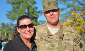 Sgt. Alexandra Shea and her husband, Sgt. Cody A. Flodin. (Photo provided by Alexandra Shea.)