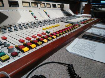 The control board used for the Guy Gordon Shown in the WJR Radio studios.